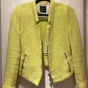 Bright yellow blazer from Zara